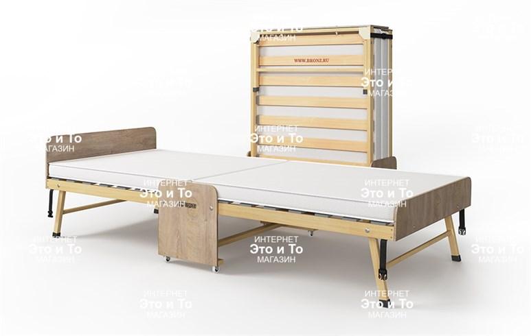Основа Сна - деревянная ортопедическая раскладушка с матрасом + изголовье, ограничители матраса, чехол (раскладная кровать-тумба) 1900х800х440мм/2000х900х440мм - фото 61848