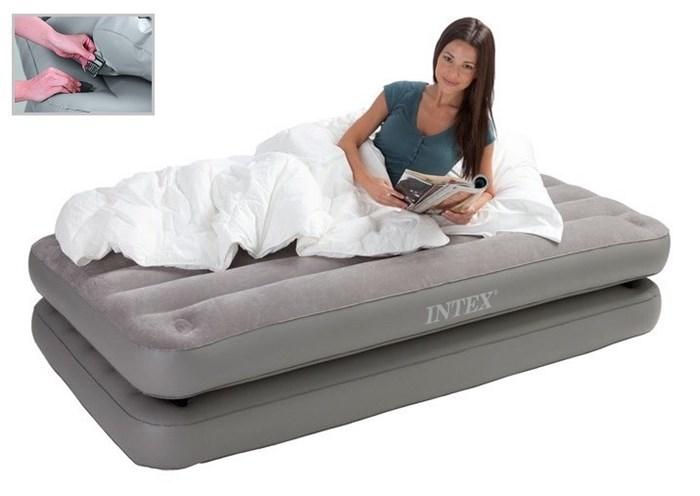 Надувная кровать односпальная 2 в 1 (без насоса) Intex 67743 (99х191х46) - фото 9347