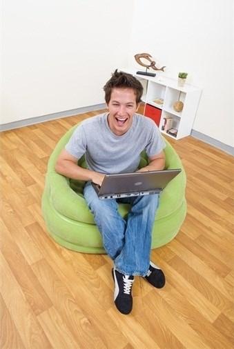 Кресло надувное Intex 68563 (зел) - фото 9451