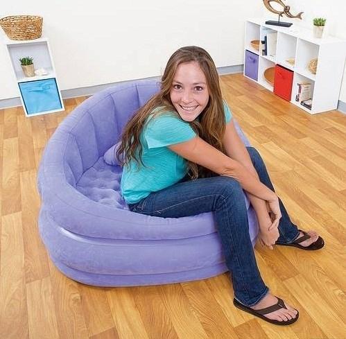Кресло надувное Intex 68563 (сир) - фото 9453
