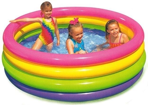 Бассейн детский с цветными кольцами Intex 56441 (168х46) - фото 9494