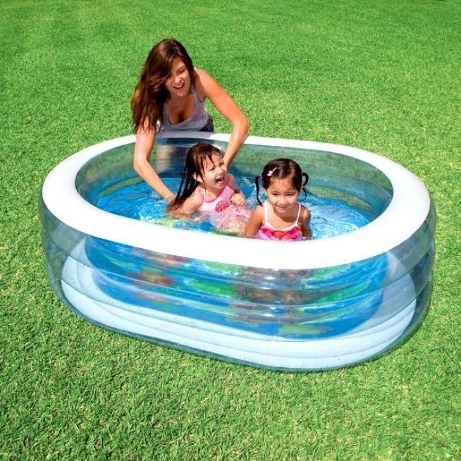 Бассейн детский Овал прозрачный Intex 57482 - фото 9506