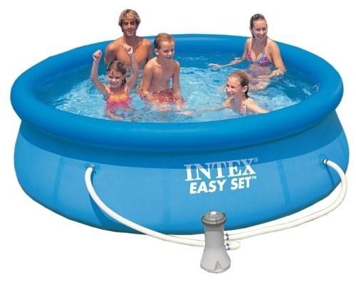 Надувной бассейн Intex 28122/56922 с надувным верхним кольцом + фильтр-насос (305х76см) - фото 9547