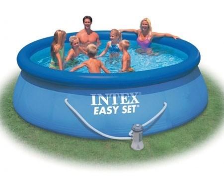 Надувной бассейн Intex 28132 с надувным верхним кольцом + фильтр-насос (366х76см) - фото 9555