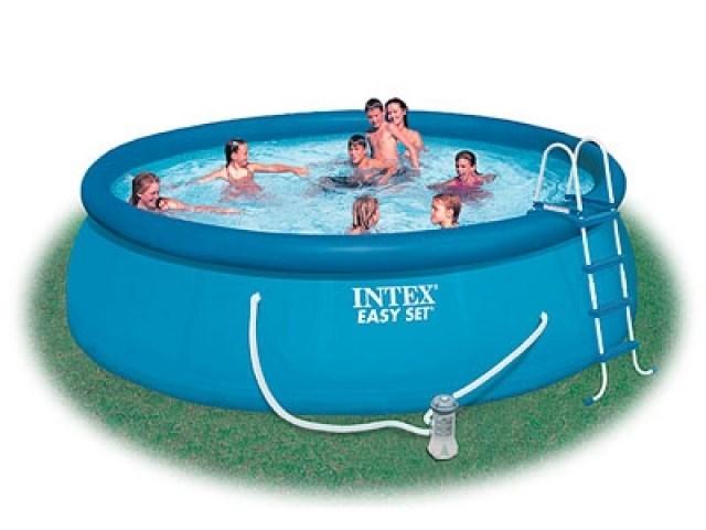 Надувной бассейн Intex 56912 с надувным верхним кольцом (457х122см) - фото 9562