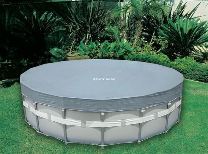 Тент для круглого каркасного бассейна 549см Intex 28041 - фото 9620