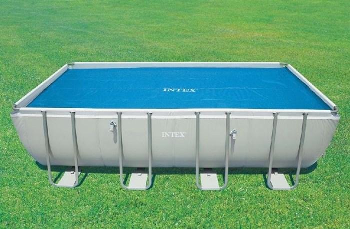 Тент солнечный прозрачный для прямоугольного бассейна 549х274см Intex 29026 - фото 9649