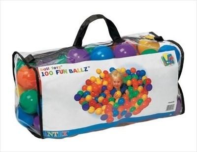 Набор шариков-мячиков для игровых центров (8см) Intex Fun Ballz 49600 - фото 9834