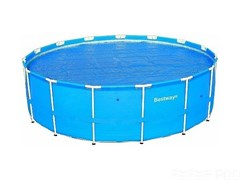 Тент солнечный прозрачный для круглого бассейна 457см BestWay 58065