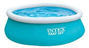 Надувной бассейн Intex 28101 с надувным верхним кольцом (183х51см)