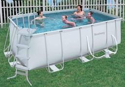 Каркасный бассейн Bestway 56241/56456 + фильтр-насос, лестница  (412х201х122см)