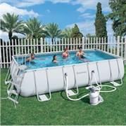 Каркасный бассейн Bestway 56244/56457+ песочный фильтр-насос, лестница (412х201х122см)