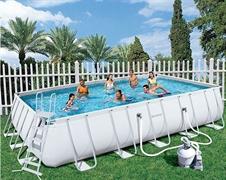 Каркасный бассейн Bestway 56278/56471 + песочный фильтр-насос  (671х366х132см)