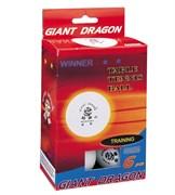 Мячи для настольного тенниса GIANT DRAGON 6 шт белые