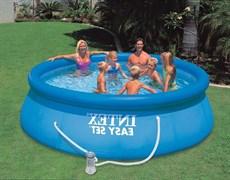 Надувной бассейн Intex 28146/56932 с надувным верхним кольцом + фильтр-насос (366х91см)