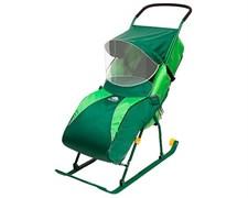Складные санки-коляска «Тимка 2 комфорт» с колесом
