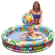 """Детский надувной бассейн """"Аквариум"""" Intex 59431 (132х28)"""