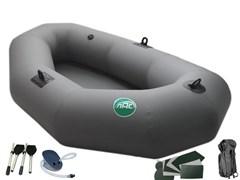 """Одноместная надувная лодка из ПВХ """"ЛАС-1""""+ насос, весла, сидушка"""