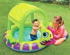"""Детский надувной бассейн с навесом """"Морской конек"""" Intex 57110"""