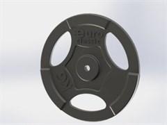 Диски  чугунные для штанги EURO-CLASSIC окрашенные d-26 15 кг