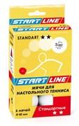 Мячи для настольного тенниса Start-line STANDART 2*, 6 мячей