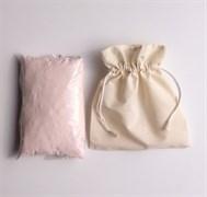 Гималайская розовая соль  для ванны, фракция  <0,5мм, фасовка в хлопковом мешочке 1кг