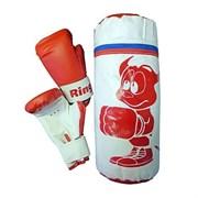Набор боксерский НД-630 (мешок 30см, вес 1кг + перч 4унц)