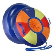 Сноутьюб Барс СТАНДАРТ разноцветный с сиденьем на шнурке малый диам 0,6м