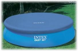 Тент для бассейна с верхним надувным кольцом 305см Intex 28021