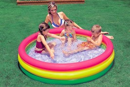Детский бассейн с надувным дном Intex 57422 (147х33)