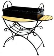 Мангал из стали 2мм с двумя столиками и дровницей