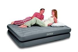 Надувная кровать  Intex 67744 двуспальная 2 в 1 (без насоса) (152х203х46)