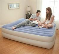 Надувная кровать Intex 67714 двуспальная со встр. насосом 220В (152х203х47)