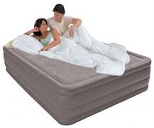 Надувная кровать Intex 67954 двуспальная со встр. насосом 220В (152х203х51)