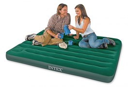 Надувной матрас Intex 66929 двуспальный со встр. ножным насосом (152х203х22)