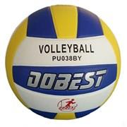 Мяч волейбольный DOBEST PU038 клеенный р.5