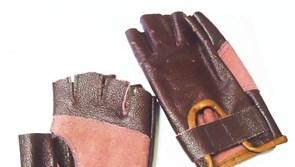 Перчатки для спорта из нат. кожи -Коричневый