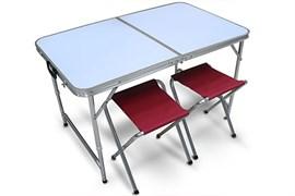 Набор для пикника. Складной стол и два складных стульчика