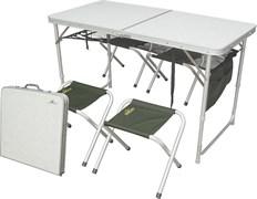 Набор стол складной+4 стула складные дачные  IK-088
