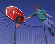 Баскетбольный щит для батута с сеткой + мач и насос