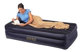Надувная кровать  Intex 66706 односпальная со встр. насосом 220В (99х191х47)