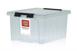 "Ящик пластиковый с крышкой ""RoxBox"" 8 л, прозрачный 340х230х160см"