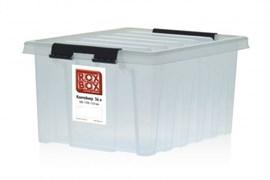 "Ящик пластиковый с крышкой ""RoxBox"" 36 л, прозрачный 500х390х250см"