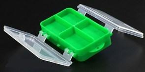 Коробка для мелочей двухсторонняя (зеленая) 140х80х40мм