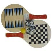 Набор 3 в 1: пляжный теннис, шахматы, нарды TCB