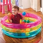 Детский бассейн с шариками Intex 48674 (86x25 см) 1-3 года