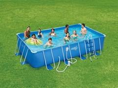 Каркасный бассейн Summer Escapes P20-2052-B + фильтр-насос, лестница, подстилка, тент, набор для чистки DELUXE, скиммер (549х274х132см)