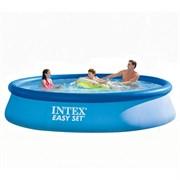 Надувной бассейн Intex 28156 с надувным верхним кольцом (457х84см)