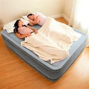 Надувная кровать Intex 64140 двуспальная со встр. насосом 220В (152х203х51)