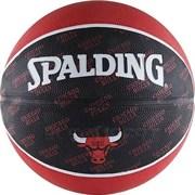 Мяч баскетбольный SPALDING Chicago Bulls р. 7, резина, красно-черн-белый